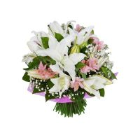 a75 mixed bouquet with lily and alstromeria